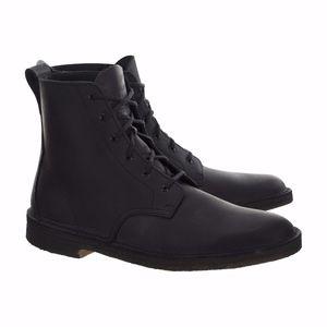 Clarks Originals Desert Mali Matte Black Leather